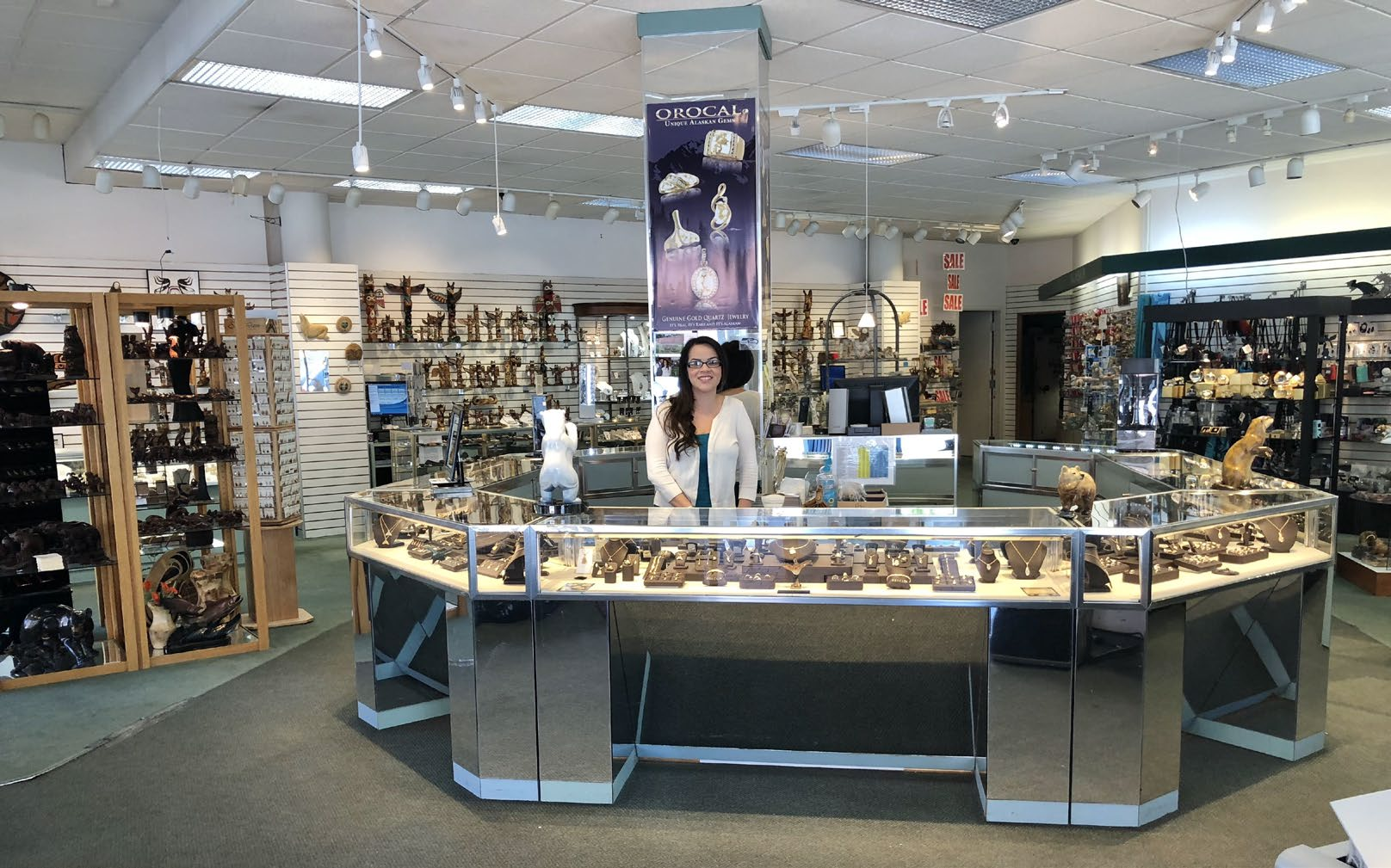 Extensive selection of genuine Alaskan items are the hallmarks of Julie's